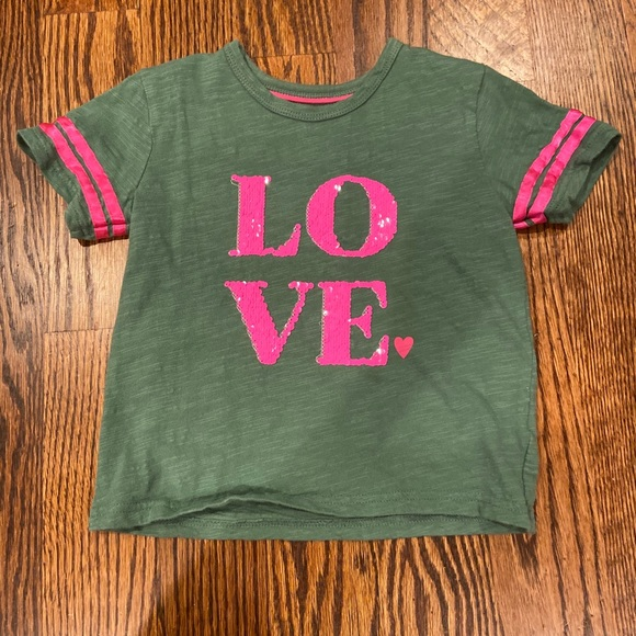 Boden Other - Mini Boden Sequin Love Tee